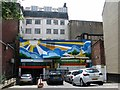 TG2208 : Pottergate - The City of Stories (mural) by Evelyn Simak