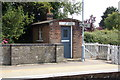 TM4069 : Crossing Keeper's Hut on Darsham Railway Station by Adrian Cable