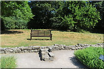 ST5038 : Bench overlooking the herb garden by John C