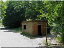 SK1771 : Monsal Trail: derelict building near Monsaldale Station site by Gareth James