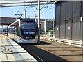 NT1772 : Tram leaving Edinburgh Gateway by Thomas Nugent