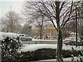 SJ9594 : Struggling through the snow by Gerald England