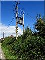 SO7704 : Western Power Distribution line spur pole, Bath Road, Eastington by Jaggery
