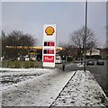 SJ9594 : Shell filling station on Dowson Road by Gerald England