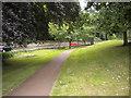NU1913 : Path alongside Denwick Lane, Alnwick by Richard Vince
