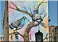 J3374 : Pigeons mural, Gresham Street, Belfast (July 2018) by Albert Bridge