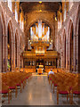 SJ8398 : Manchester Cathedral Nave,  Screen and Stoller Organ by David Dixon