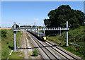 SU2688 : A view up the line to Paddington, near Compton Beauchamp by Brian Robert Marshall