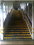 TM1543 : Stairs to the overhead walkway by Adrian Cable