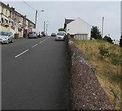 SO1004 : Top of a stone wall opposite Glenview Terrace, Pentwyn by Jaggery
