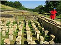 SP0513 : A guide explaining how the hypocaust worked by Steve Daniels