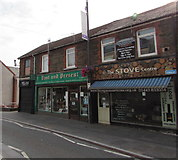 ST1599 : Three Hanbury Road businesses, Bargoed by Jaggery