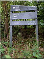 SO1301 : Coedwig Deri/Deri Forest name sign by Jaggery