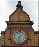 SJ8298 : Salford Fire Station Clock by Gerald England