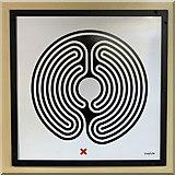 TQ2882 : Great Portland Street tube station - Labyrinth 200 by Mike Quinn