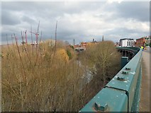 SJ8298 : River Irwell at Salford Crescent by Gerald England