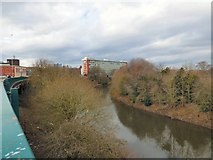 SJ8298 : River Irwell below Salford Crescent by Gerald England