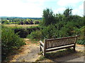 TQ4135 : Bench with a view, near Forest Row by Malc McDonald