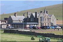 HU3909 : Sumburgh Hotel from Jarlshof Prehistoric and Norse Settlement, Sumburgh, Shetland by Jo Turner