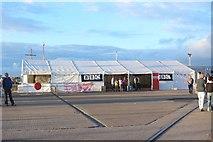 NZ4057 : Media tent, Corporation Quay, Port of Sunderland by Graham Robson