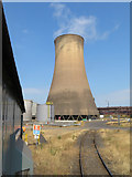 SE9110 : Cooling tower at Scunthorpe Steelworks by Gareth James