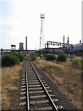 SE9111 : Railway line in Scunthorpe Steelworks by Gareth James