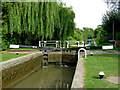 SP5565 : Braunston Top Lock in Northamptonshire by Roger  Kidd