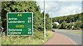 J3083 : Route confirmatory sign near Sandyknowes, Newtownabbey (July 2018) by Albert Bridge