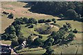 SO4430 : Kilpeck Castle and Church: aerial 2018 by Chris