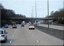 TQ2253 : Footbridge, M25 by N Chadwick