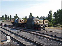 SE9109 : Old steel wagons at Scunthorpe Steelworks by Gareth James