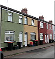 ST3189 : Colourful Ailesbury Street houses, Newport  by Jaggery