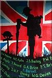 SO6302 : War memorial wall mural by Philip Halling
