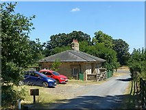 SK4924 : North Entrance Lodge, Whatton House by Alan Murray-Rust