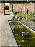SK4924 : Lily pond with fountains by Alan Murray-Rust