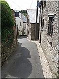 SS6644 : Parracombe: narrow street by Martin Bodman
