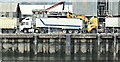 J3576 : Discharging grain, Belfast harbour - July 2018(2) by Albert Bridge