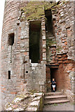 NY0265 : Entrance to Murdoch's Tower, Caerlaverock Castle by Billy McCrorie