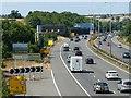 SK4722 : M1 from Smithy Lane bridge by Alan Murray-Rust