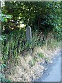 SK5023 : Old Barton bus stop post, Zouch by Alan Murray-Rust