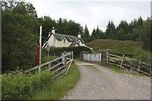 NN3578 : Bridge across the West Highland Railway line at Fersit by Graham Robson