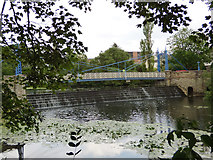 SP3265 : Mill Bridge and weir, Leamington Spa by Stephen Craven
