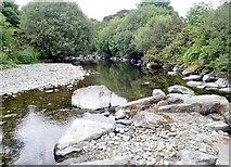 J3731 : Low water in the Shimna below the New Bridge by Eric Jones