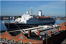 W7966 : The Marco Polo berthed at Cobh by Ian S