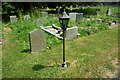 SO5663 : Old Lamp at St. Andrew's Church (Leysters) by Fabian Musto