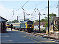 SE3693 : Northallerton station - approaching charter train by Stephen Craven