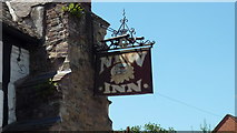 SO3958 : Sign at The New Inn (Pembridge) by Fabian Musto