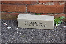 TM3569 : Commemorative Brick at the Peasenhall & Sibton Methodist Church by Adrian Cable
