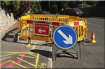 SX9364 : Roadworks, Ilsham Road by Derek Harper