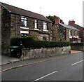 SJ3052 : Stone houses, Broughton Road, Moss near Wrexham by Jaggery